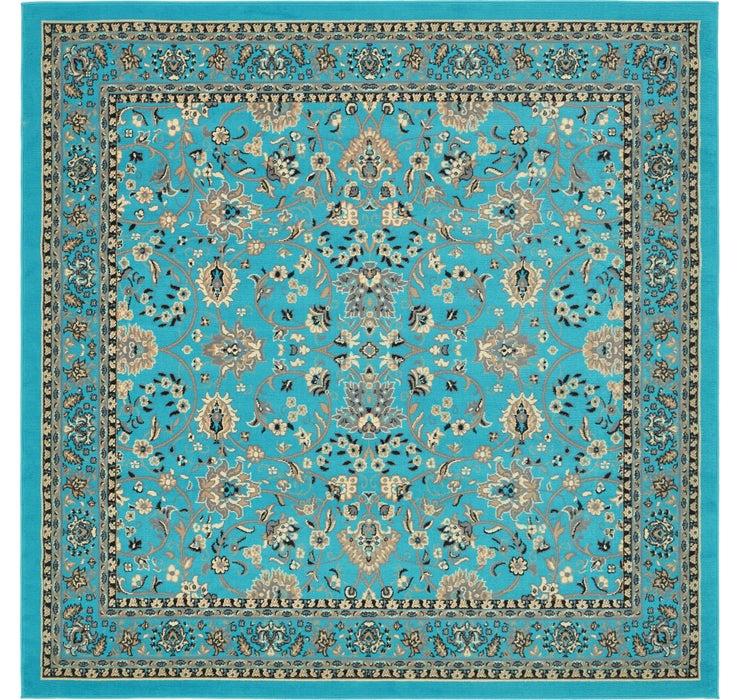 8' x 8' Kashan Design Square Rug
