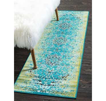 Image of  Blue Ankara Runner Rug
