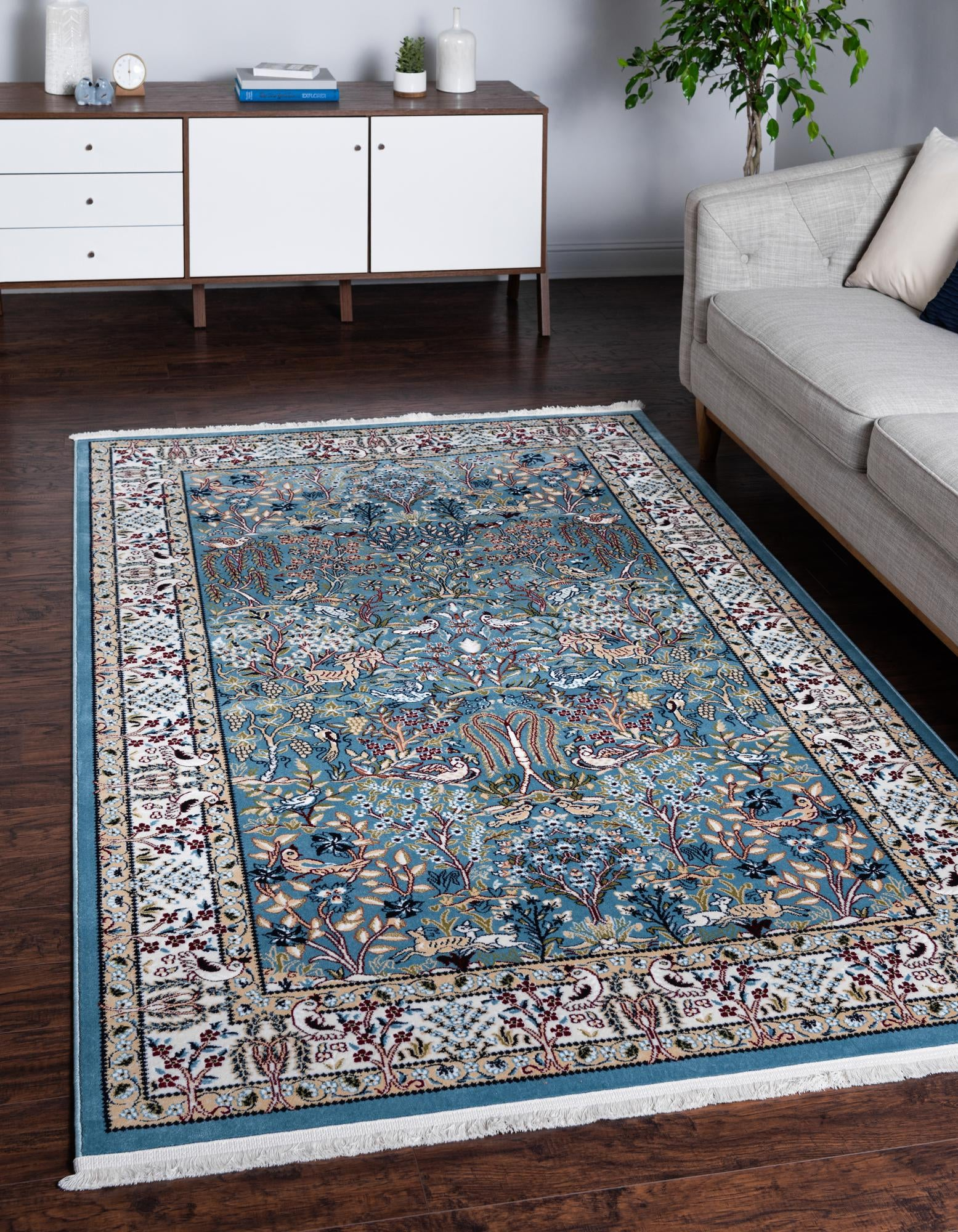 Picture of: Blue 8 X 10 Nain Design Rug Esalerugs