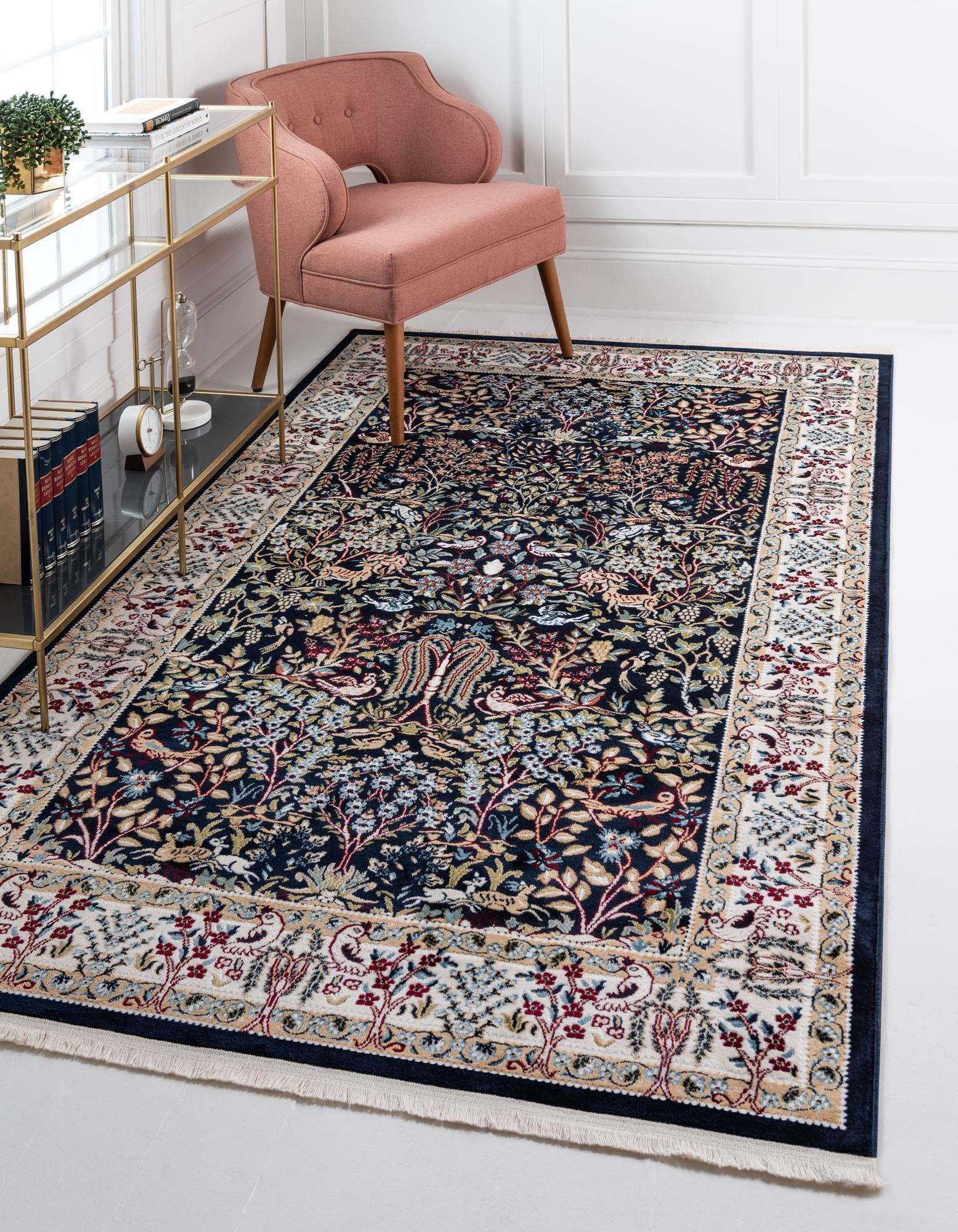 Picture of: Navy Blue 8 X 10 Nain Design Rug Esalerugs