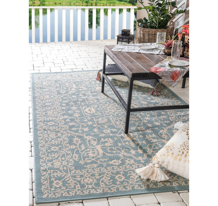 Image of 8' x 11' 4 Outdoor Botanical Rug