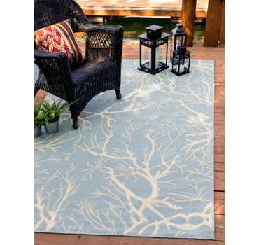 Image of 2' x 3' Outdoor Botanical Rug