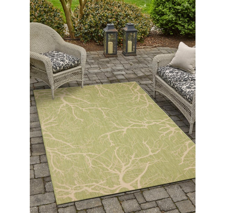 213cm x 310cm Outdoor Botanical Rug