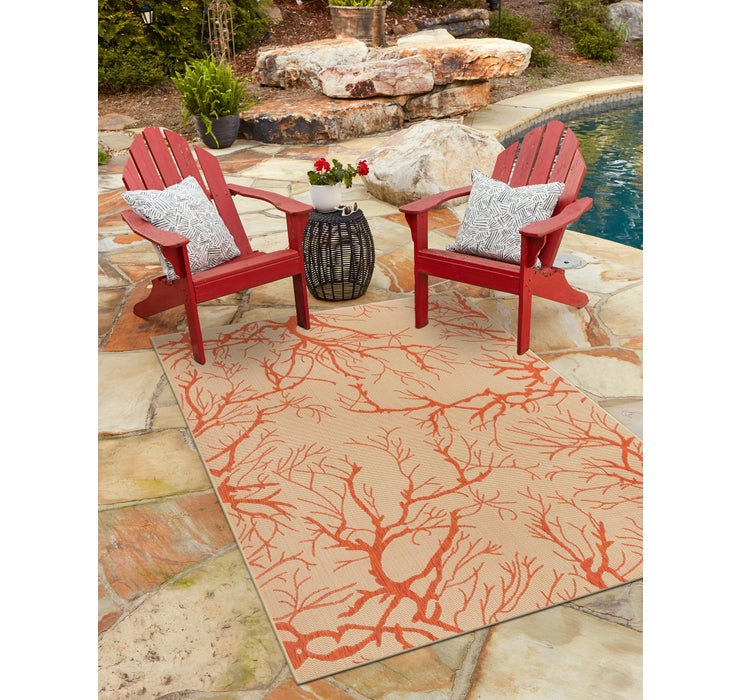 60cm x 90cm Outdoor Botanical Rug