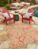 4' x 6' Outdoor Botanical Rug thumbnail