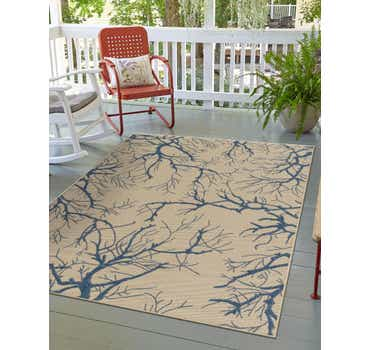 Image of 7' x 10' Outdoor Botanical Rug