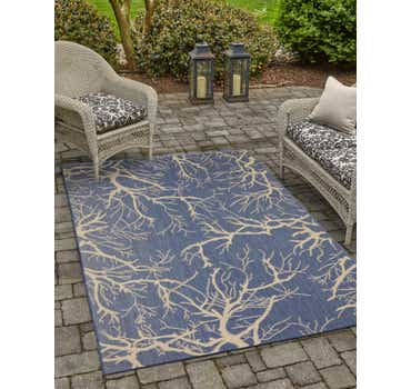 Image of 6' x 9' Outdoor Botanical Rug
