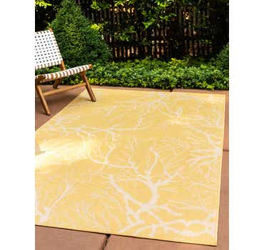 Image of 4' x 6' Outdoor Botanical Rug
