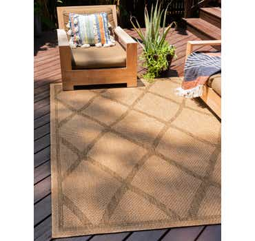 Light Brown Outdoor Lattice Rug
