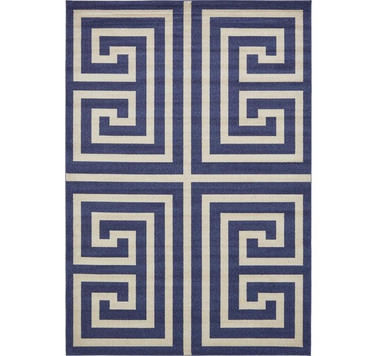 8' x 11' 4 Greek Key Rug