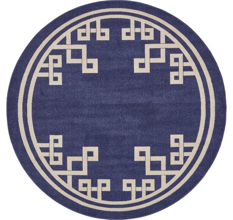 8' x 8' Greek Key Round Rug