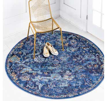 Image of  Navy Blue Charlotte Round Rug
