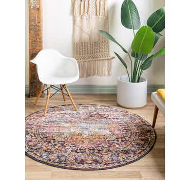 Image of  Rust Red Charlotte Round Rug