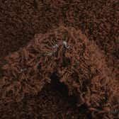 8' x 8' Solid Shag Round Rug thumbnail