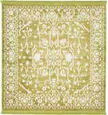 4' x 4' New Vintage Square Rug thumbnail