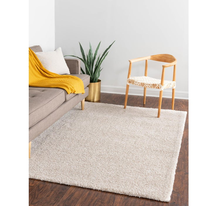 5' x 7' 7 Solid Frieze Rug