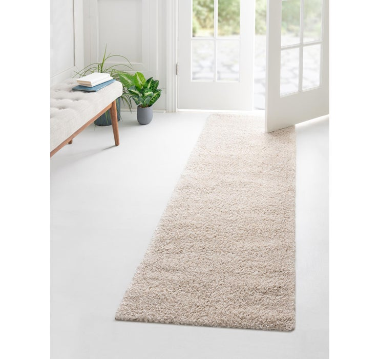 65cm x 395cm Solid Frieze Runner Rug