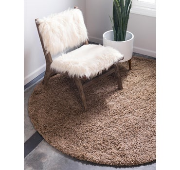 3' 3 x 3' 3 Solid Shag Round Rug main image