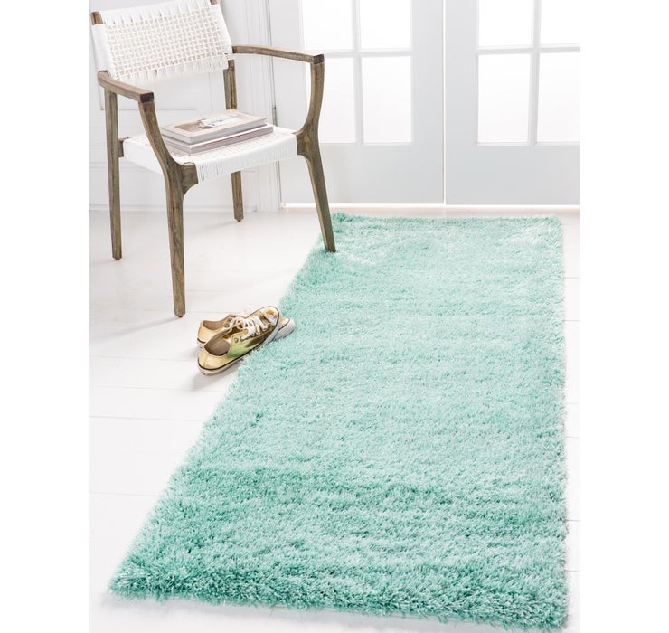 2' 7 x 10' Luxe Solid Shag Runner ...