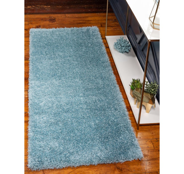 Image of 80cm x 305cm Luxe Solid Shag Runner ...