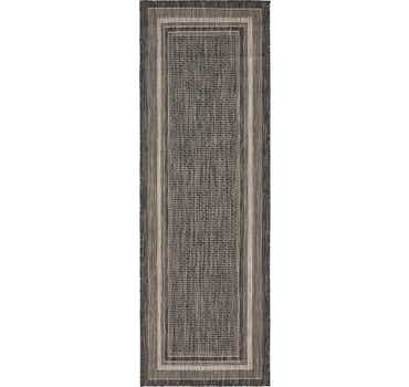 Image of 2' x 6' Outdoor Border Runner Rug