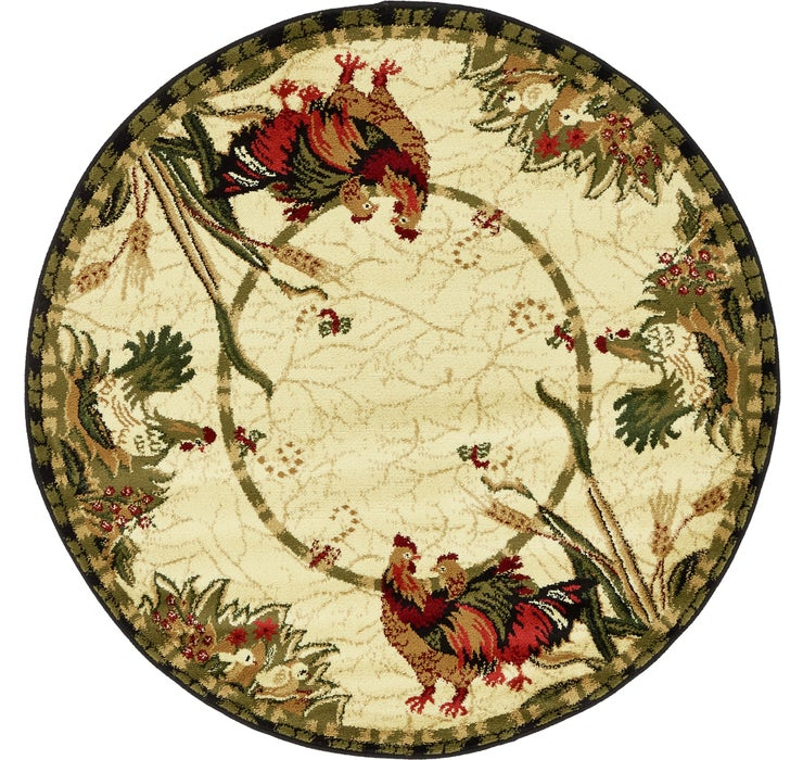 4' x 4' Country Round Rug