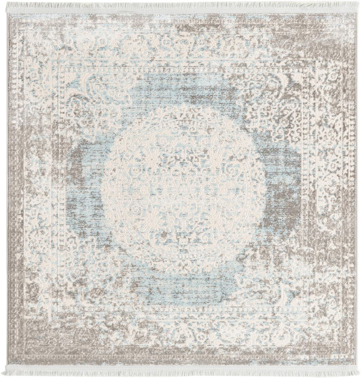 4' x 4' New Vintage Square Rug main image