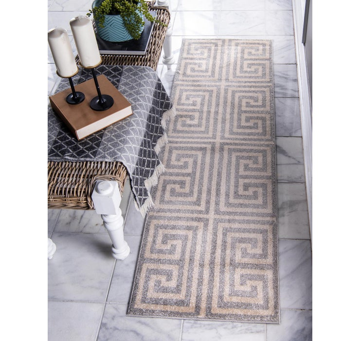 Image of 80cm x 305cm Greek Key Runner Rug