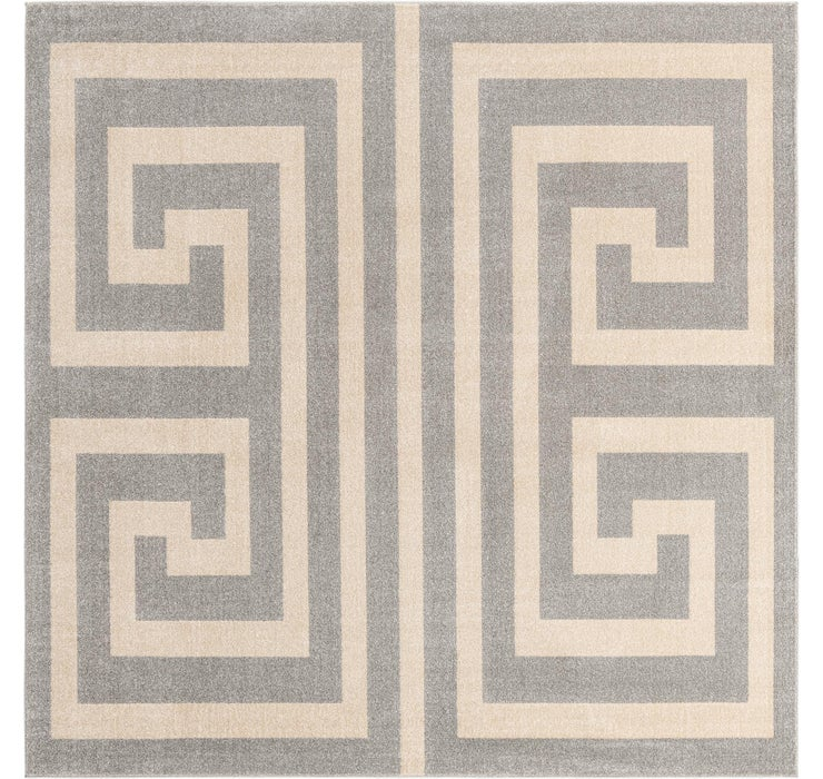 8' x 8' Greek Key Square Rug