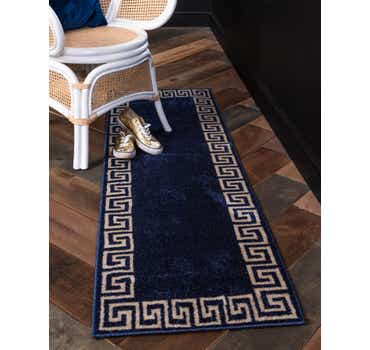 Image of 2' x 6' Greek Key Runner Rug