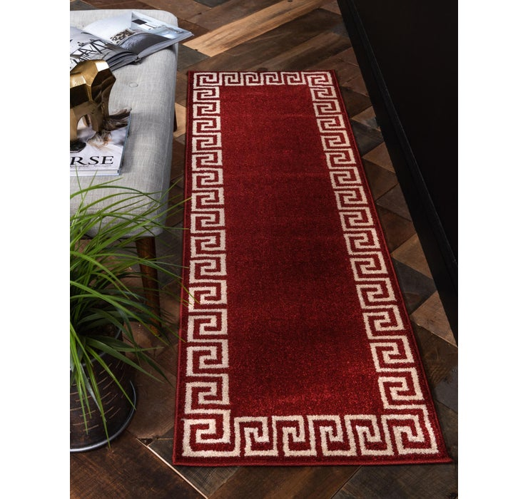 60cm x 185cm Greek Key Runner Rug