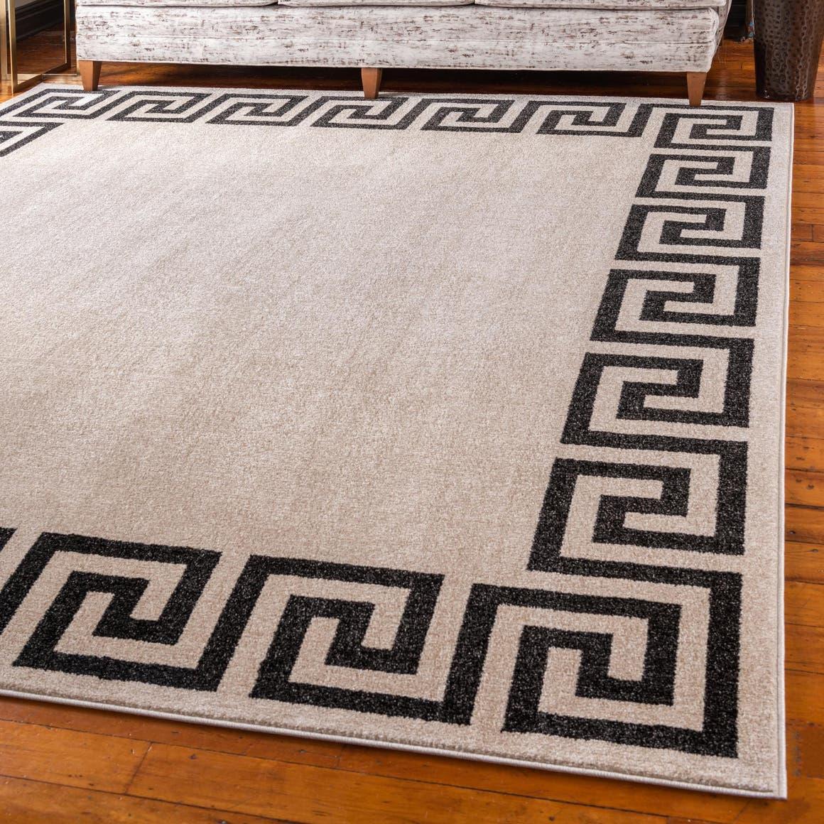 8' x 8' Greek Key Square Rug main image