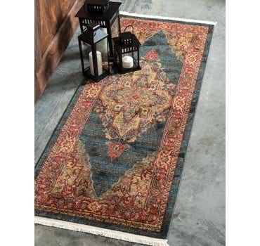 Image of 2' 7 x 6' 7 Serapi Runner Rug