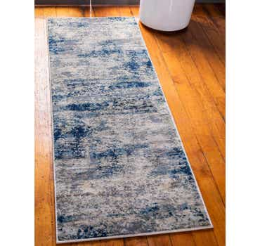 Image of  Navy Blue Gossamer Runner Rug