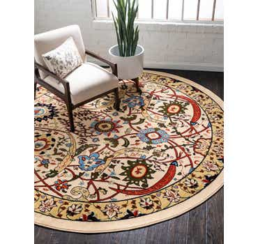 8' x 8' Isfahan Design Round Rug