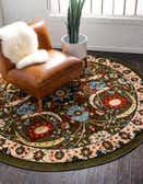 8' x 8' Isfahan Design Round Rug thumbnail