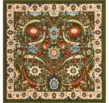 8' x 8' Isfahan Design Square Rug main image