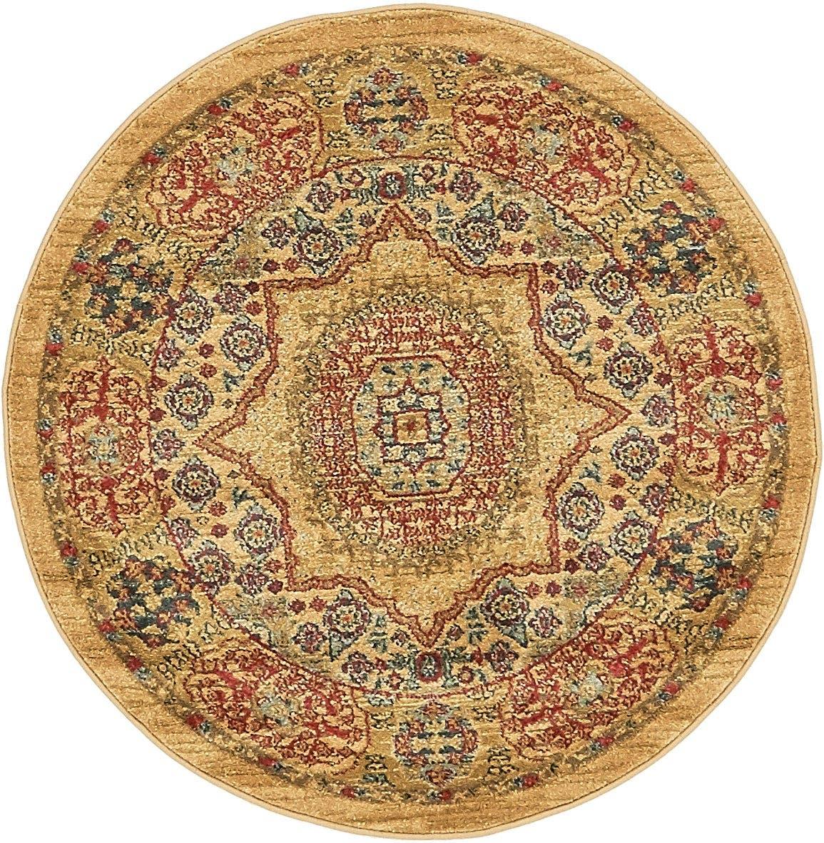 3' 3 x 3' 3 Mamluk Round Rug main image