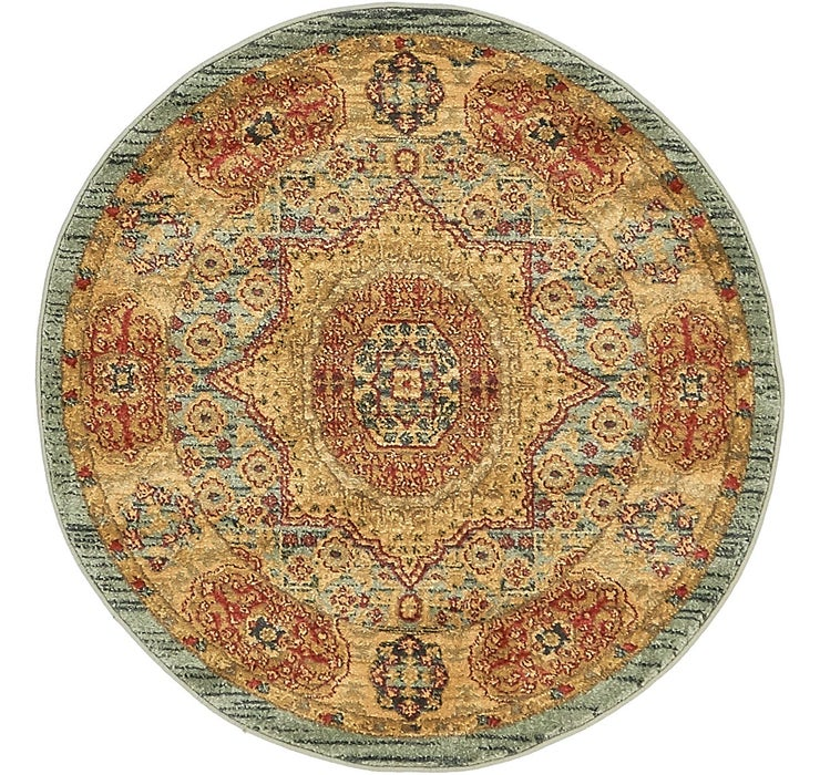 3' 3 x 3' 3 Mamluk Round Rug