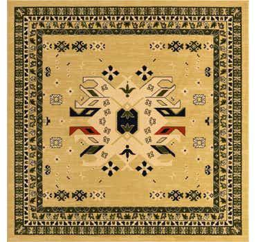 Image of  Cream Heris Square Rug
