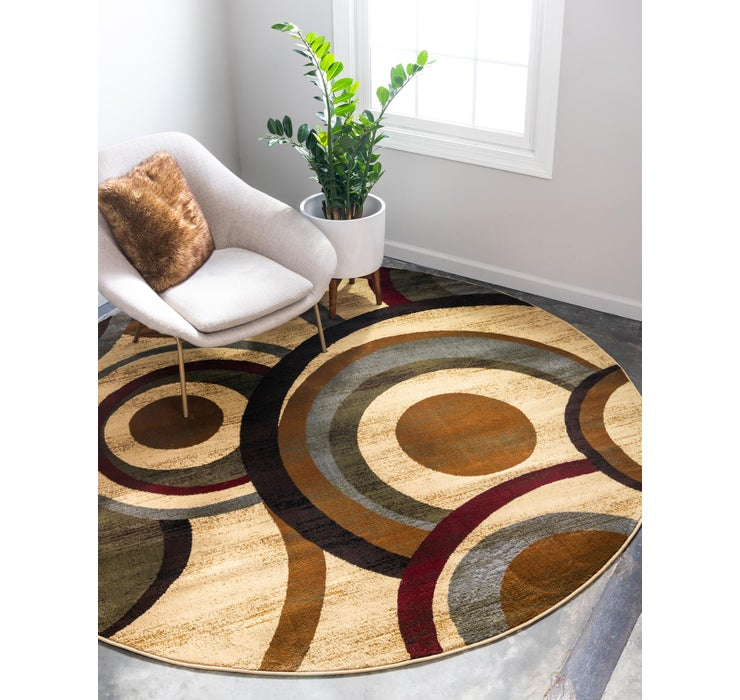 Image of 8' x 8' Coffee Shop Round Rug