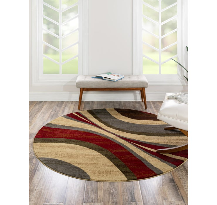 122cm x 122cm Coffee Shop Round Rug
