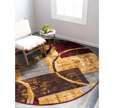 6' x 6' Coffee Shop Round Rug main image