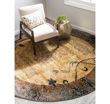8' x 8' Coffee Shop Round Rug main image