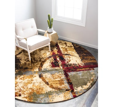 4' x 4' Coffee Shop Round Rug main image