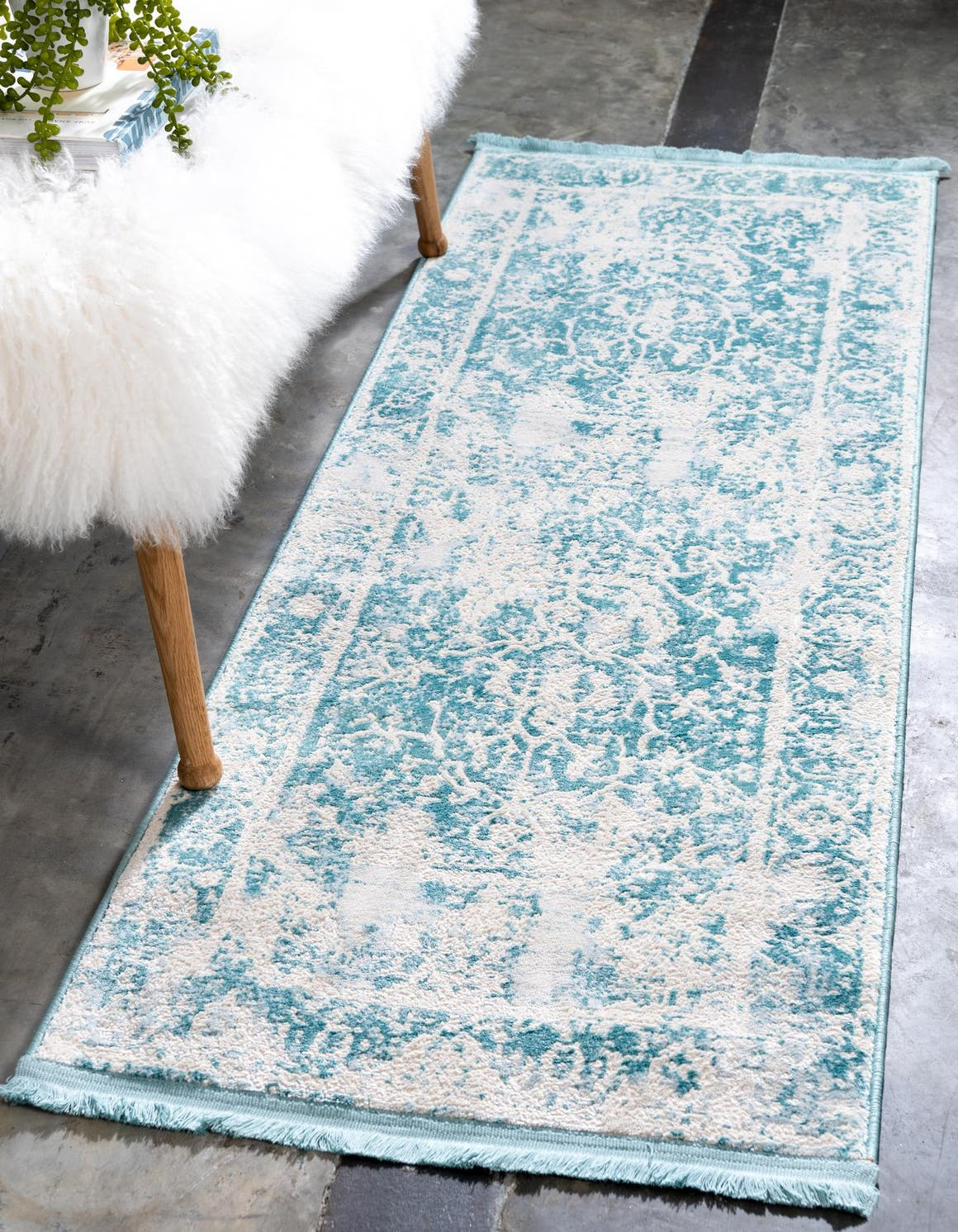 2' 7 x 10' New Vintage Runner Rug main image
