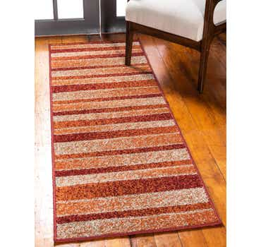 Image of  Rust Red Equinox Runner Rug