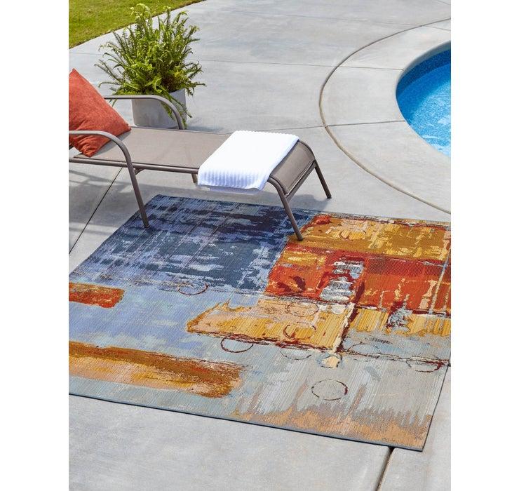 183cm x 183cm Outdoor Modern Square Rug