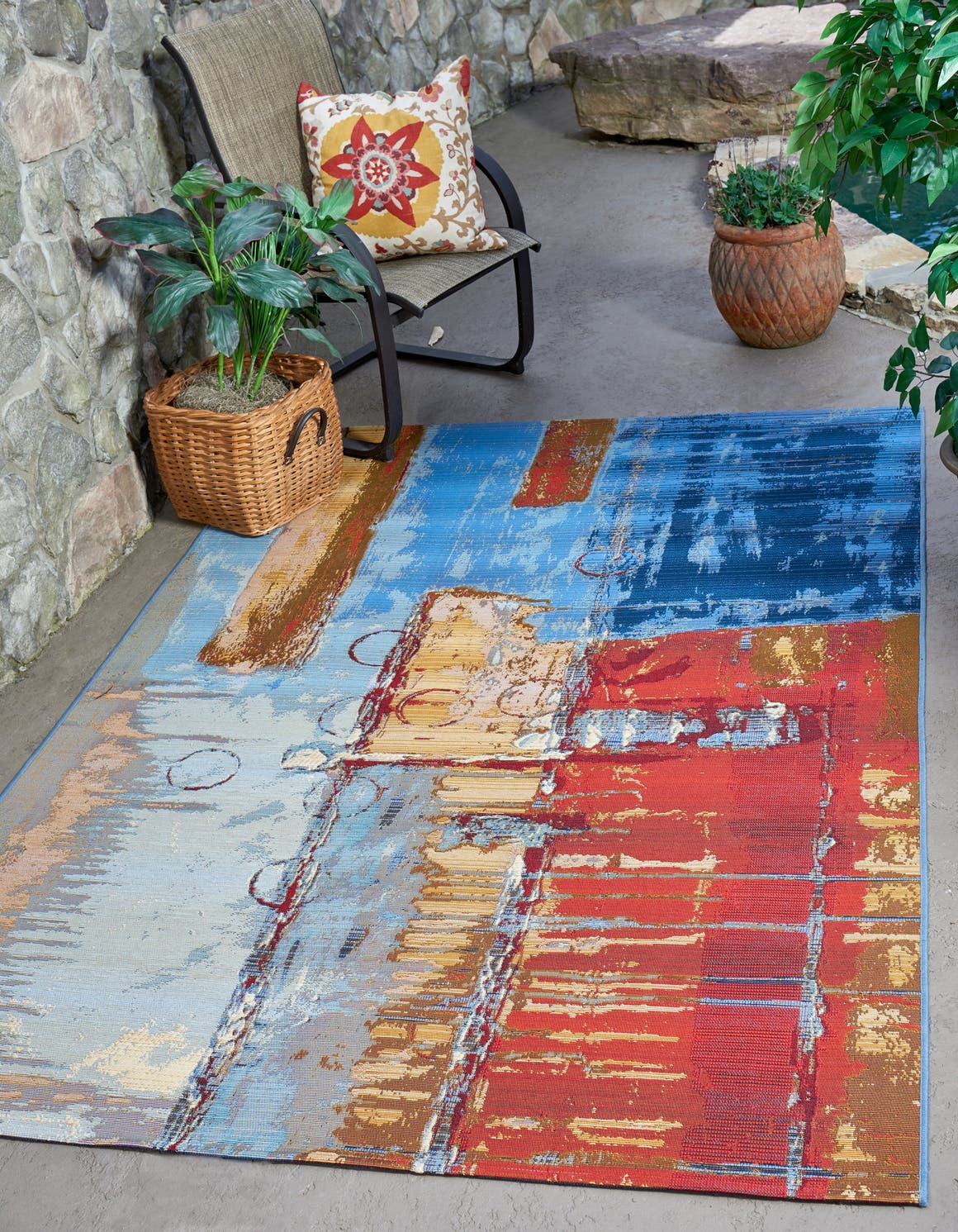 8' x 11' 4 Outdoor Modern Rug main image