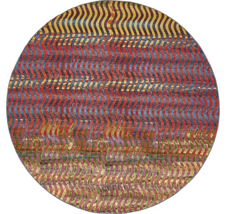8' x 8' Outdoor Modern Round Rug
